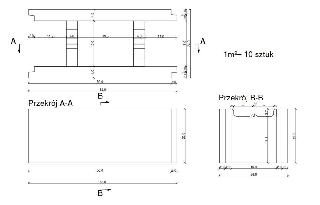 Betonschalungsstein S24 Normalstein Grau Schalstein 50 X 24 X 20 Cm